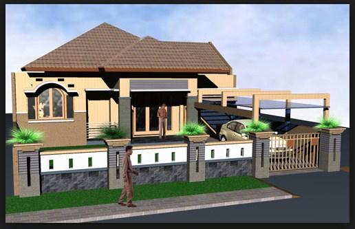 40 Desain Pagar Rumah Minimalis