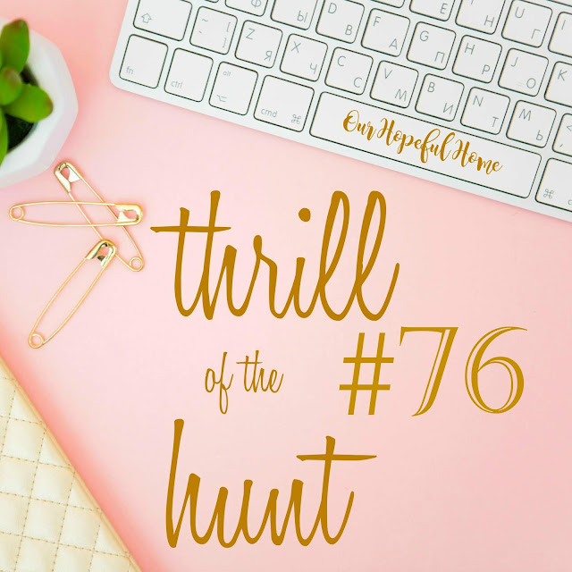 Thrill of the Hunt #76 gold safety pin succulent keyboard