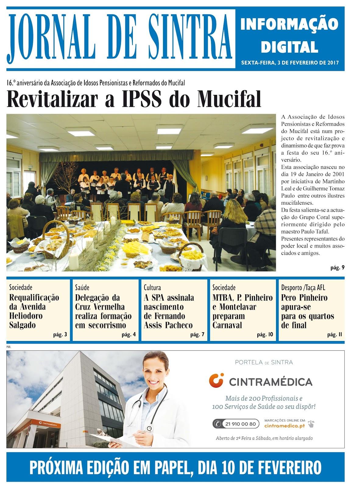 Capa da edição de 03-02-2017