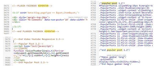 Contoh kode plugin tambahan dengan keterangan