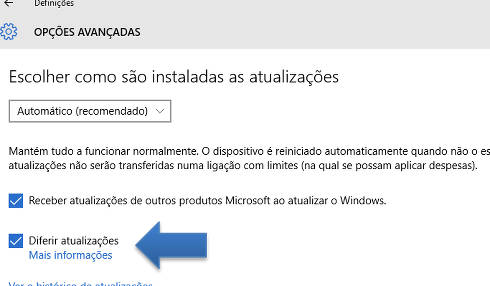 Impedir as atualizações do Windows 10