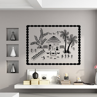 https://www.kcwalldecals.com/warli-wall-decals/2705-warli-celebration-in-front-of-house-wall-decal.html?search_query=Warli&results=19