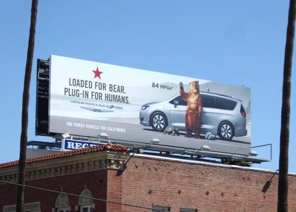 Chrysler Pacifica Plug-in hybrid billboard