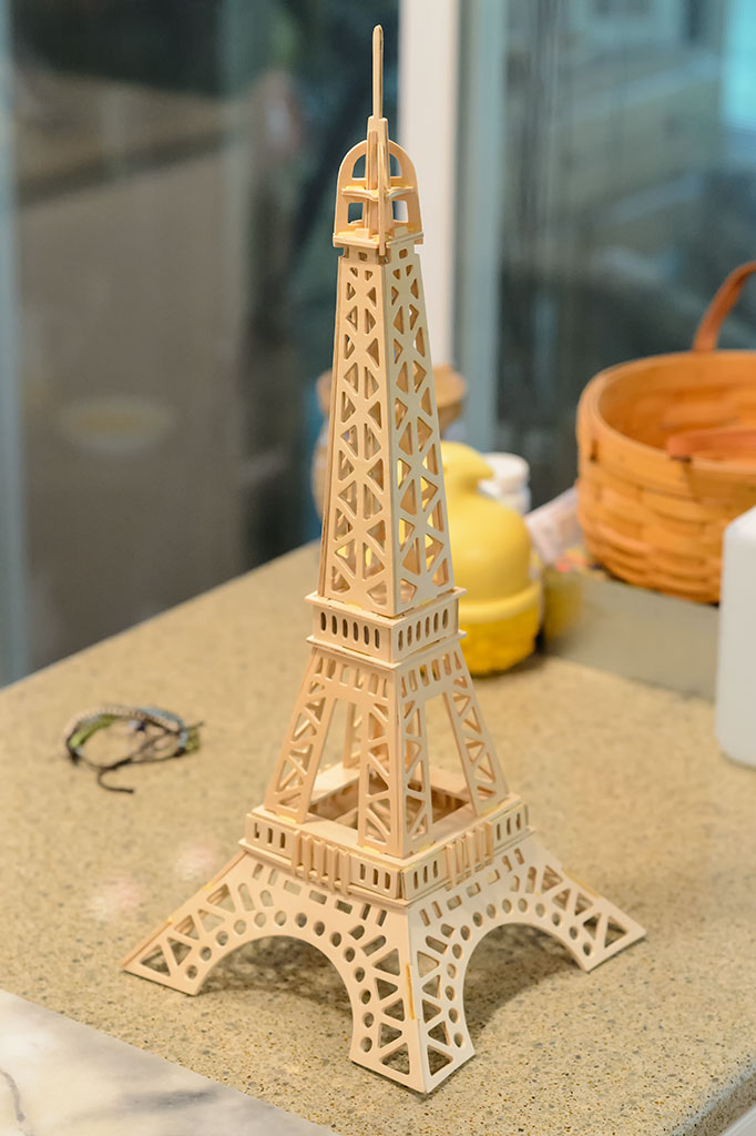 Completed Creatology's Eiffel Tower Puzzle