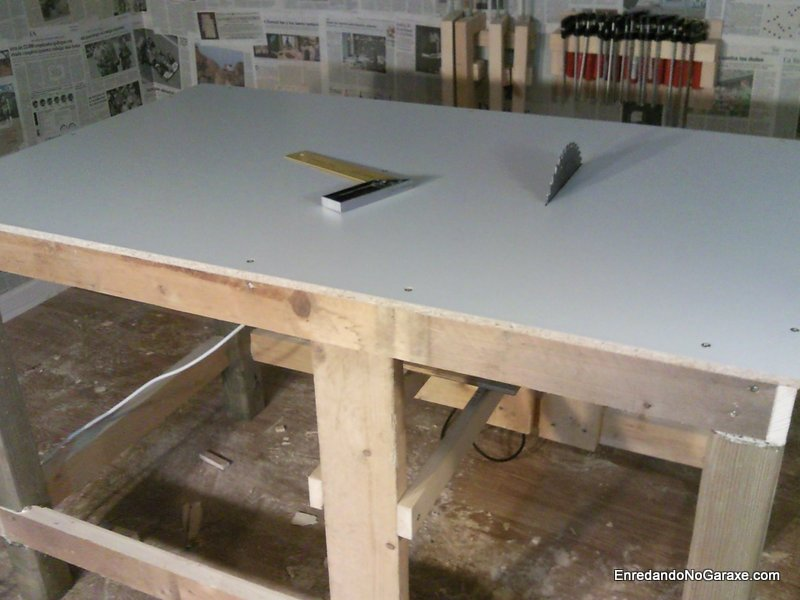 Sierra de mesa hecha con la ingletadora, enredandonogaraxe.com