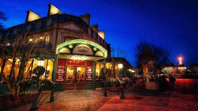 Restaurante Les Chefs de France no Epcot na Disney em Orlando