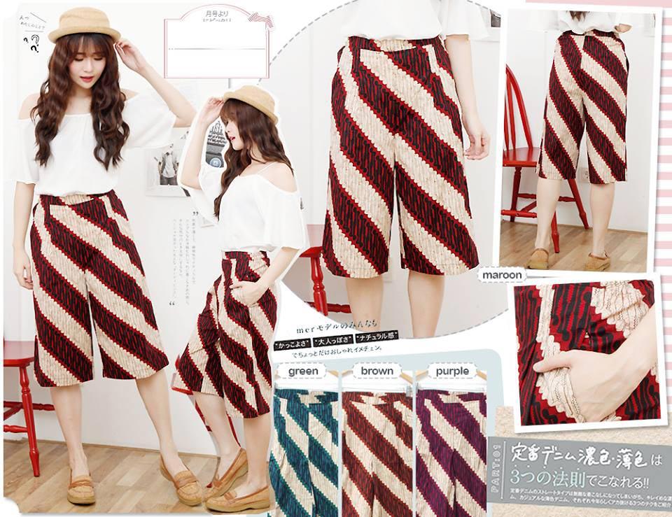 Jual Baju Batik Celana Kulot Batik - 13091