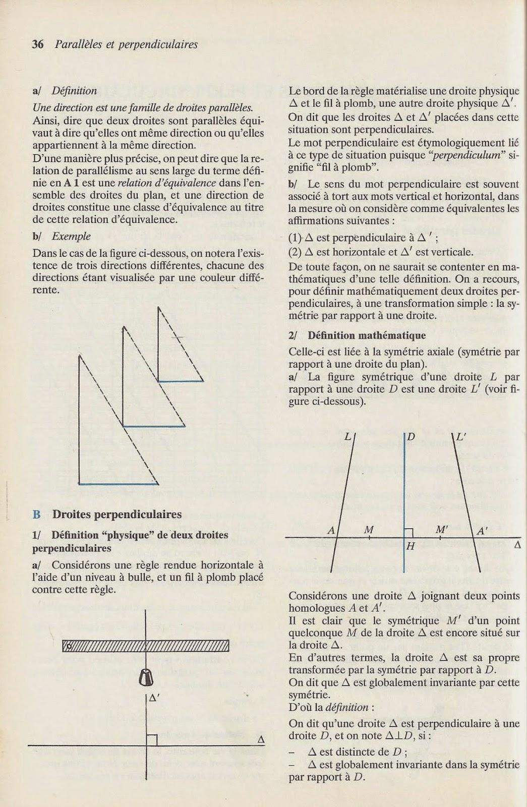 Droites parallèles Droites perpendiculaires – Cm2 – Exercices