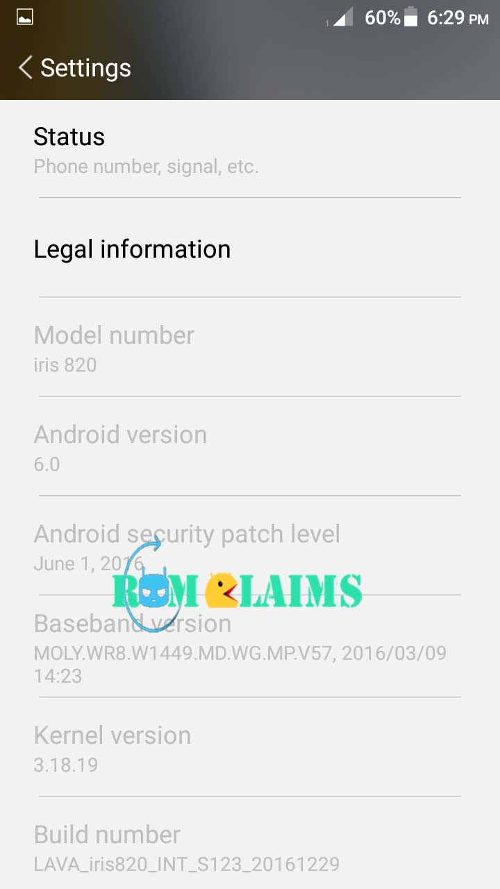 Lava Iris 820 Official Firmware 100% Working & Tested Without