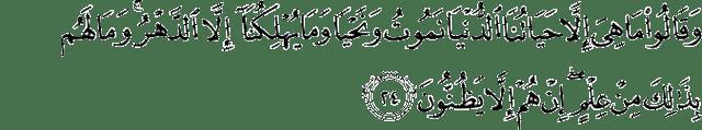 Surat Al-Jatsiyah ayat 24