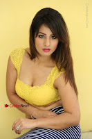 Cute Telugu Actress Shunaya Solanki High Definition Spicy Pos in Yellow Top and Skirt  0240.JPG