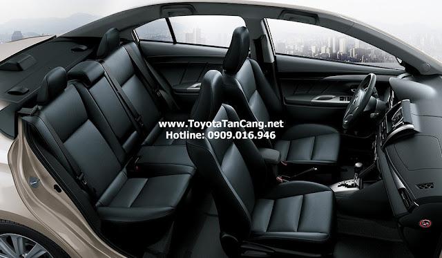 Nội thất Toyota Vios 2015 được thiết kế khá rộng rãi và sang trọng