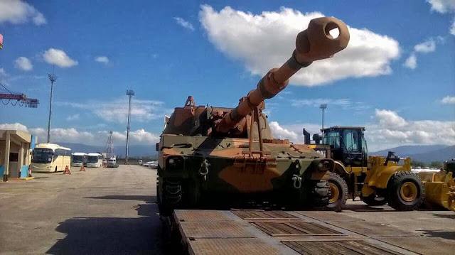 BAE desembarca en Brasil el primer lote de obuses M109A5+BR. Jhjhj