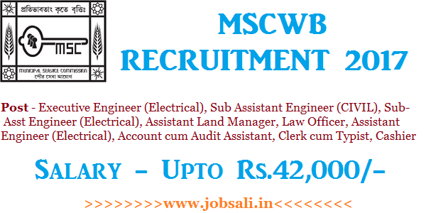 assistant engineer recruitment 2017 in west bengal, mscwb assistant engineer online application, mscwb assistant engineer syllabus