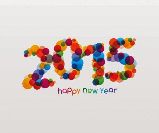 año nuevo, arcoiris digital