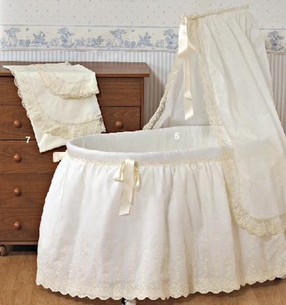 Brenda salas taller artesanal moises cunas y catres - Vestir cuna bebe ...
