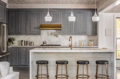 Gambar Desain Dapur Mewah Model Modern terbaru