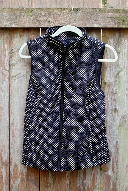 Stitch Fix Market & Spruce Anella Puffer Vest polka dot