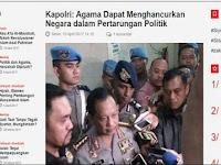 Sebut Agama Dapat Hancurkan Negara, Pengamat: Pernyataan Tito Melawan Pancasila