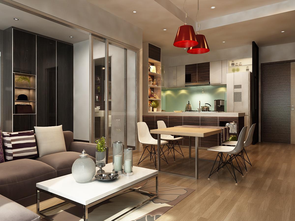 phòng khách căn hộ A1 - xigrandcourt