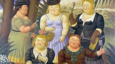 El club de la jardinería pintado por Botero