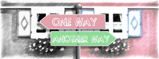 sign post with signs pointing 'one way' and 'another way'