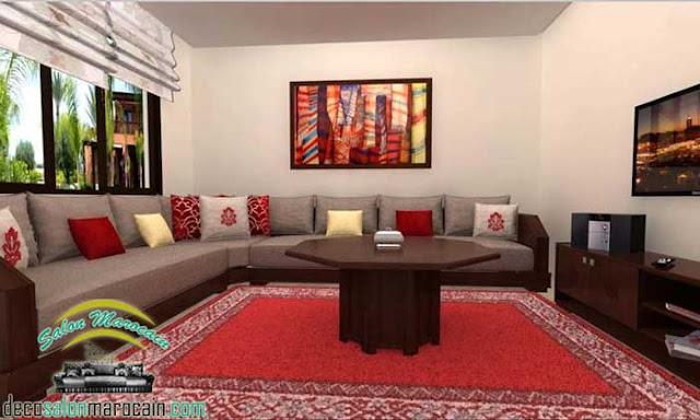 Salon / salon marocain traditionnel intègre l'antiquité pour une decoration 2017
