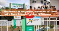 AMARGOSA: Histórica série de inaugurações, marca fim da Gestão Karina Silva, confira o VÍDEO