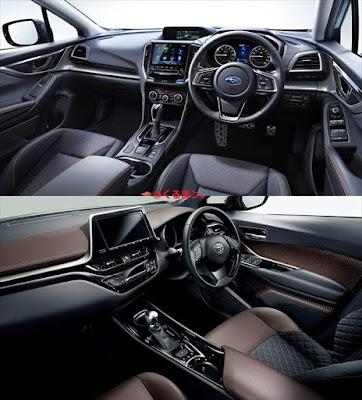 XV C-HR 内装インパネ周り 比較写真