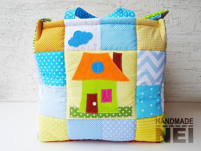 "Handmade Nel: Кош за играчки от плат ""Самуил-Иван"""