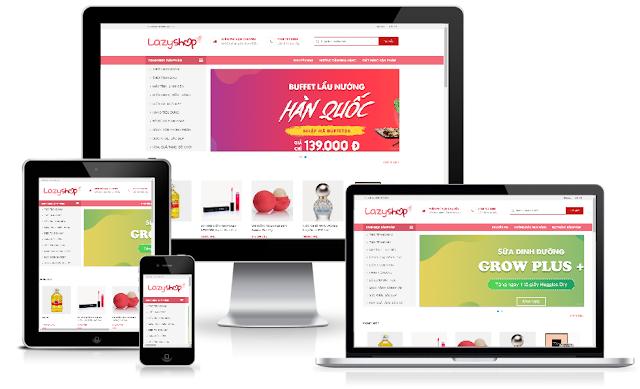 Theme blogger bán hàng cực đẹp responsive