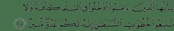 Surat Al-Baqarah Ayat 208