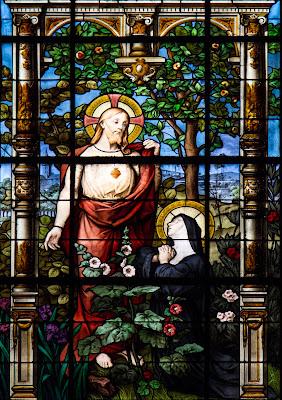 Imagem de Santa Margarida Maria Alacoque e o sagrado coração, vitral, #1