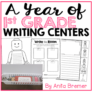 Lots of writing center activities and ideas for First Grade- perfect for Daily 5!