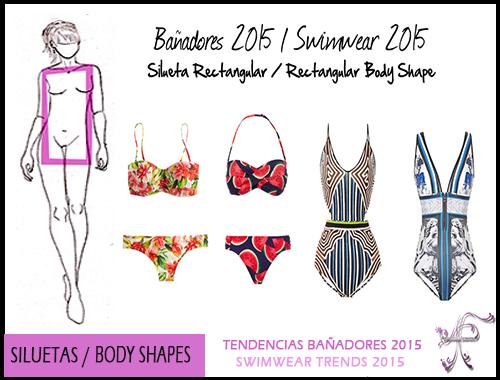 Swimwear Rectangular Body Shape