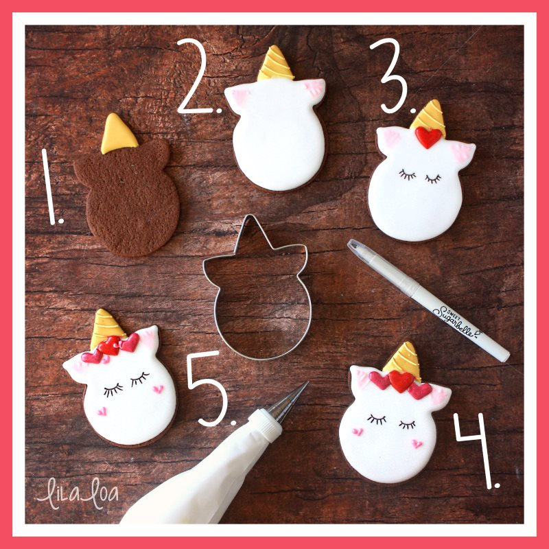How To Make Decorated Valentine Unicorn Sugar Cookies