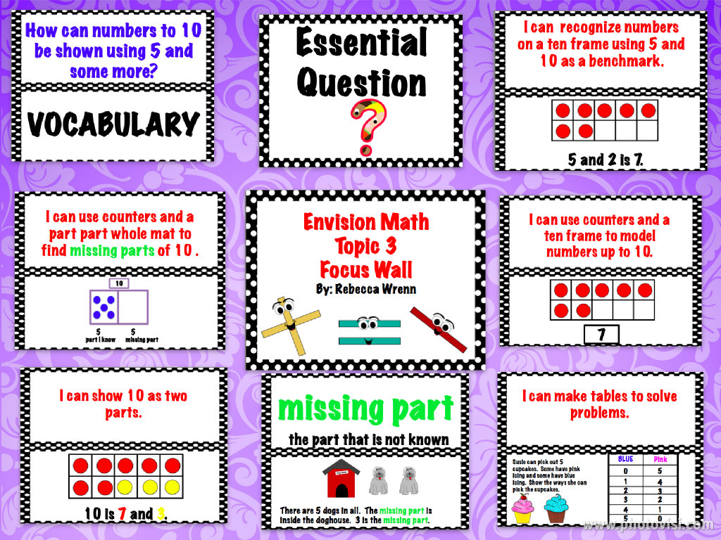 Learning With Firsties First Grade Envision Math Topic 3