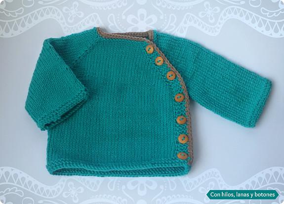 Con hilos, lanas y botones: chaqueta Puerperium