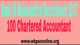 Bank of Maharashtra Recruitment Notification 2017 Apply Online for 100 Chartered Accountant Posts - image Bank%2Bof%2BMaharashtra%2BRecruitment on http://wbpsconline.org