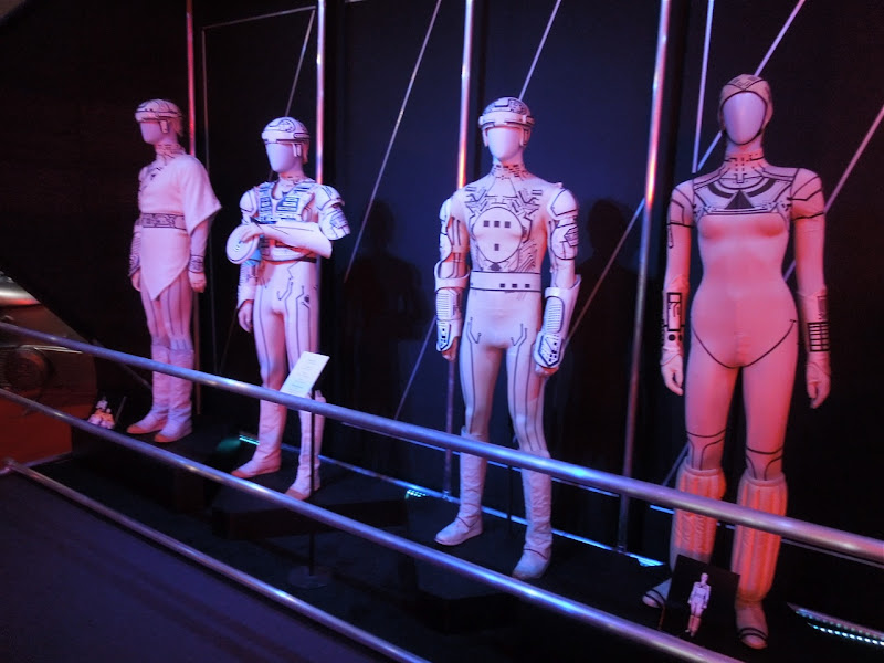 1982 Tron movie costume display