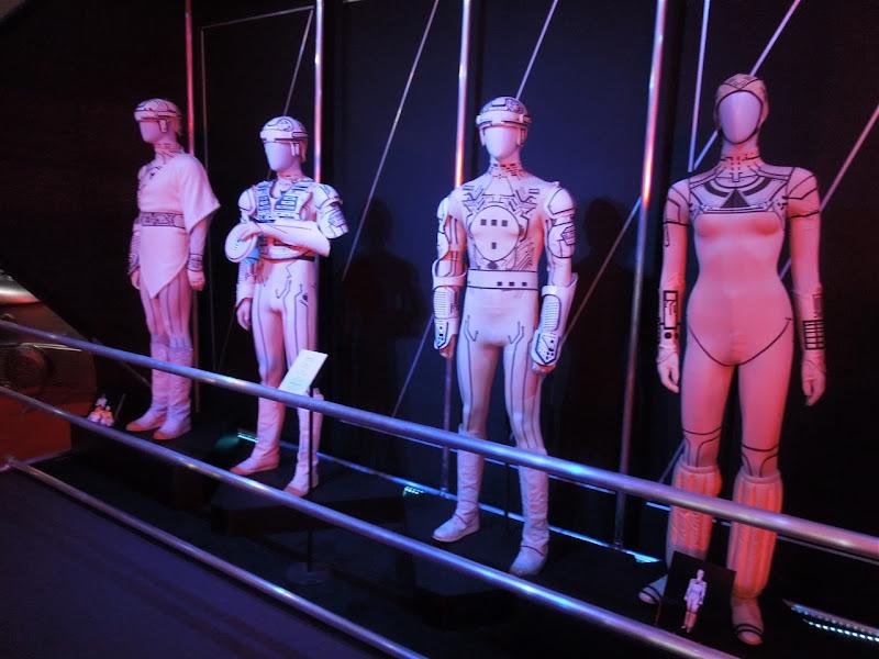 1982 Tron movie costume display