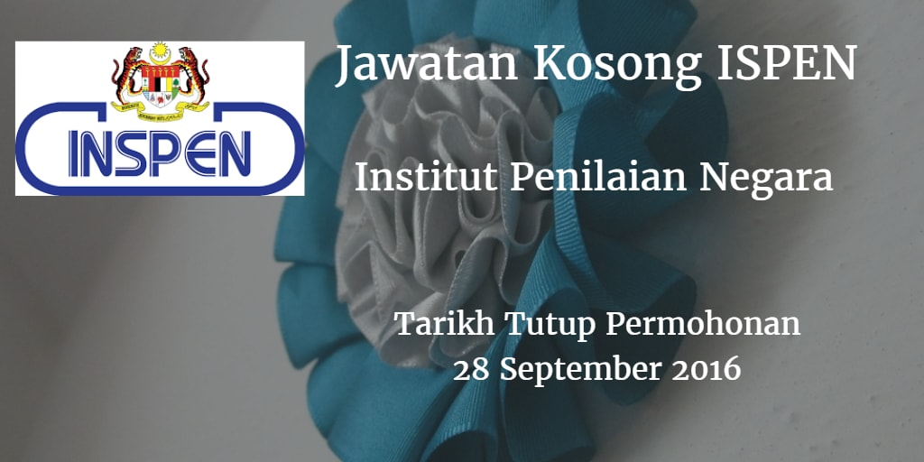 Jawatan Kosong INSPEN 28 September 2016