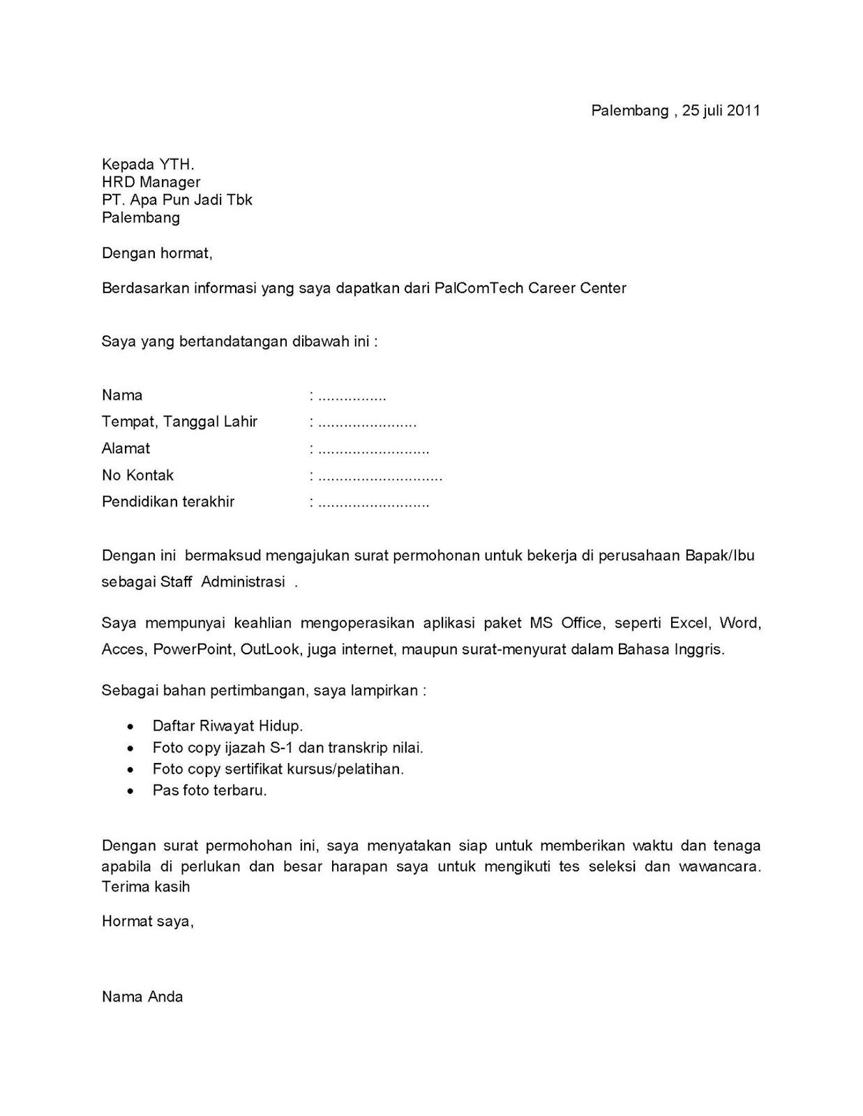 Contoh Surat Pelantikan Pekerja
