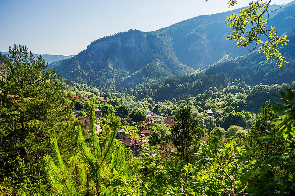 Το χωριό Πεύκο, στους πρόποδες του Γράμμου