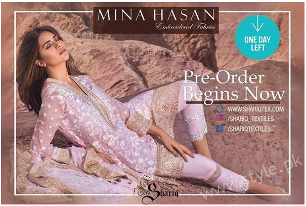 Gallery,  Latest Mina Hassan Dresses for Shariq Textiles in 2016-17, shariq textiles, latest eid dresses, girl dresses, choridar pajama,