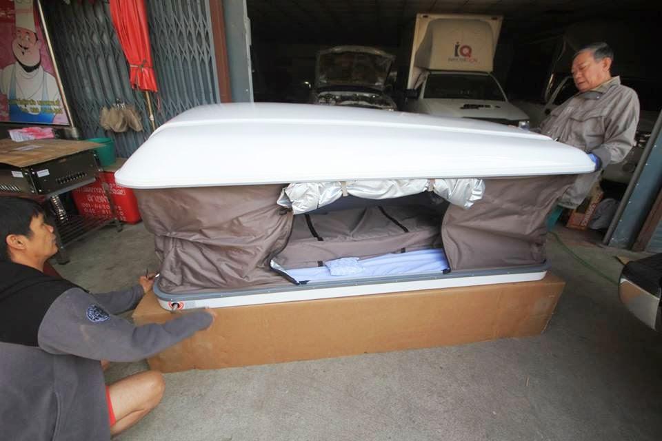 เต็นท์หลังคารถ เต็นท์ภาคสนาม Rooftop Tent  Hard Top Tent
