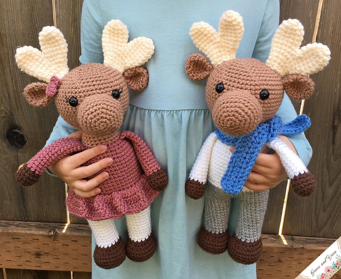 Amigurumi Moose A Free Crochet Pattern Grace And Yarn