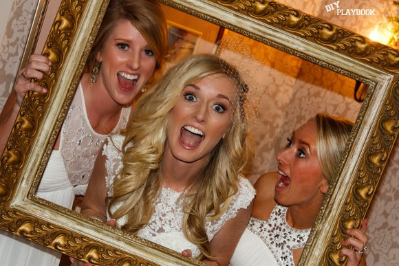 Funny faces with the bride and friends made this DIY wedding photo booth idea a success