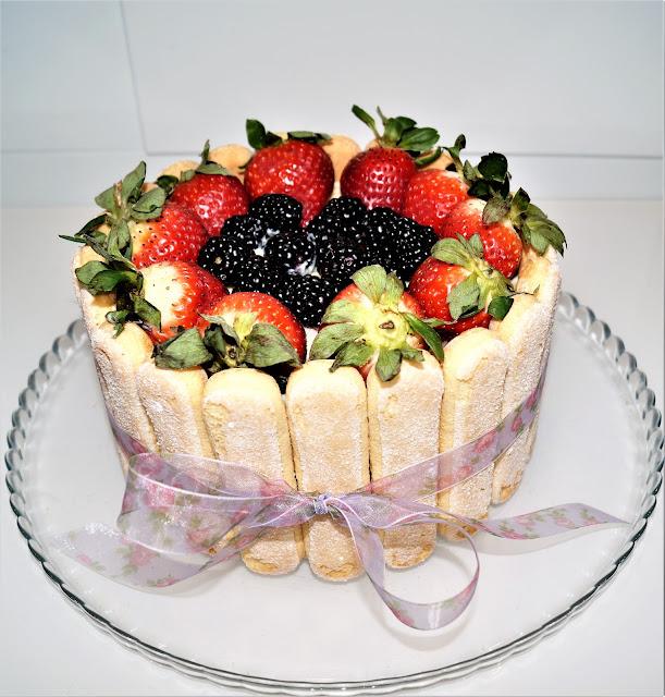 strawberry charlotte cake recipe, cake recipe