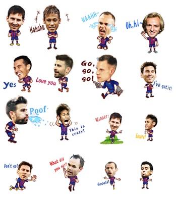 Neymar dan Messi Jadi Stiker Animasi di WeChat